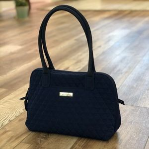 Vera Bradley Solid Navy Quilted Shoulder Bag
